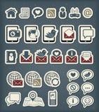 Ícones de uma comunicação da Web Imagens de Stock