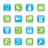 Ícones de uma comunicação e da tecnologia Fotos de Stock Royalty Free