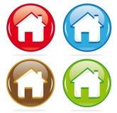 Ícones dimensionais da casa Imagens de Stock Royalty Free