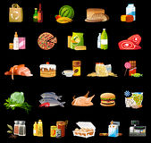 Ícones do alimento Foto de Stock Royalty Free