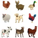 Ícones do animal de exploração agrícola Fotografia de Stock Royalty Free