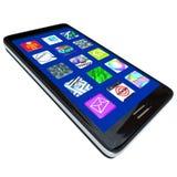 Ícones do App no telefone esperto Imagem de Stock