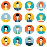 Ícones do Avatar ajustados Imagens de Stock Royalty Free