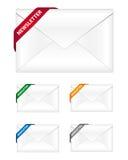Ícones do boletim de notícias Foto de Stock