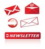 Ícones do boletim de notícias Imagem de Stock Royalty Free