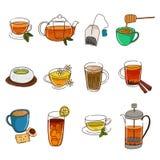 Ícones do chá Foto de Stock Royalty Free