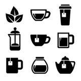 Ícones do chá ajustados Vetor Fotos de Stock Royalty Free