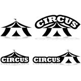 Ícones do circo Foto de Stock