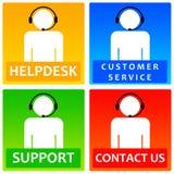Ícones do cliente Imagem de Stock Royalty Free