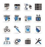Ícones do computador do lado de server Imagem de Stock Royalty Free