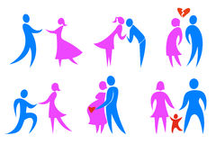 Ícones do conceito de família Foto de Stock