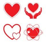 Ícones do coração do vetor Imagens de Stock Royalty Free