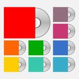 Ícones do disco compacto ajustados Imagem de Stock