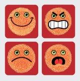 Ícones do Emoticon - expressão das faces Fotografia de Stock Royalty Free