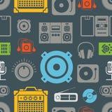 Ícones do equipamento audio Fotografia de Stock Royalty Free