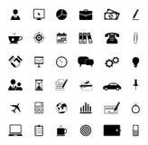 Ícones do escritório e do negócio Fotografia de Stock Royalty Free