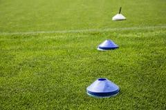 Cones do futebol Fotos de Stock