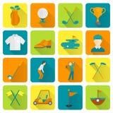 Ícones do golfe ajustados Imagem de Stock Royalty Free