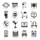 Ícones do hotel ajustados Foto de Stock Royalty Free
