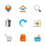 Ícones do Internet Imagem de Stock