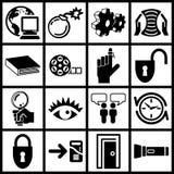 Ícones do Internet Fotografia de Stock