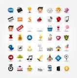 Ícones do Internet & do Web site, ícones do Web, ícones ajustados Fotos de Stock Royalty Free