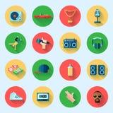Ícones do música rap ajustados Imagens de Stock