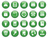 Ícones do negócio e do escritório ajustados Foto de Stock Royalty Free