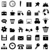 Ícones do negócio e do escritório ajustados Fotos de Stock