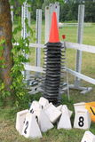 Cones do obstáculo do Equitation Fotografia de Stock Royalty Free