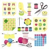 Ícones do ofício - Sewing Imagem de Stock Royalty Free