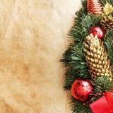 Cones do pinho do Natal Fotografia de Stock Royalty Free