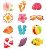 Ícones do tempo de verão Imagem de Stock Royalty Free