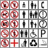 Ícones do toalete Imagem de Stock Royalty Free