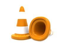 Cones do tráfego ilustração do vetor