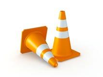 Cones do tráfego Fotos de Stock