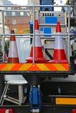 Cones do tráfego Imagens de Stock