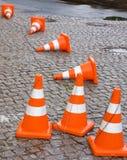 Cones do tráfego da segurança Fotografia de Stock