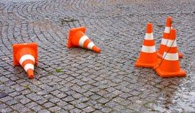 Cones do tráfego da segurança Imagem de Stock Royalty Free