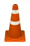 Cones do tráfego isolados no fundo branco Fotografia de Stock