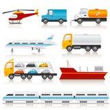 Ícones do transporte Foto de Stock