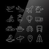Ícones do transporte ajustados Fotografia de Stock Royalty Free