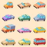 Ícones do transporte do veículo do carro Foto de Stock Royalty Free
