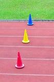 Cones do treinamento Fotografia de Stock