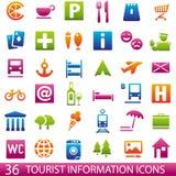 Ícones do turista Imagem de Stock Royalty Free
