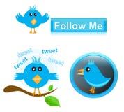 Ícones do Twitter Imagem de Stock
