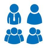 Ícones do usuário ajustados Imagens de Stock