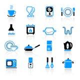 Ícones do utensílio da cozinha Foto de Stock