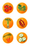 Ícones do Veggie Fotografia de Stock Royalty Free