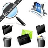 Ícones do vetor: ícones do Web 3D. Jogo 2. Foto de Stock Royalty Free